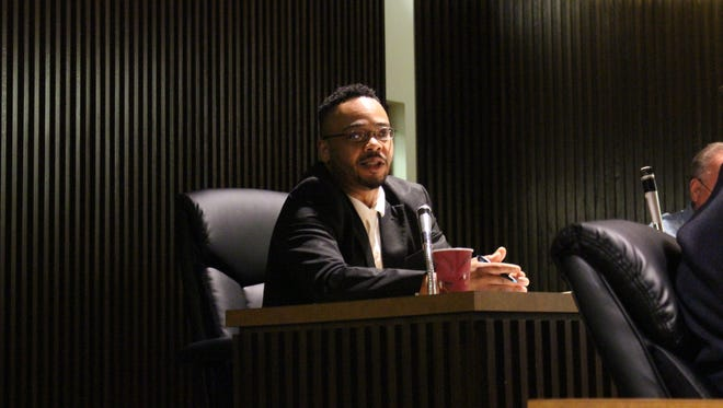Councilman-at-large and safety committee chairman Don Bryant speaks during a Mansfield City Council meeting Tuesday, July 3, 2018. Bryant expressed frustration at the difficulties in scheduling a meeting with the Richland County commissioners to discuss animal control.
