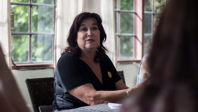 """Spiritual counselor Donna Sacks offers a daily session called """"Messages from the Angels"""" at the Two Bunch Palms resort in Desert Hot Springs, where she offers spiritual guidance using a combination of astrology and a deck of """"angel cards."""""""