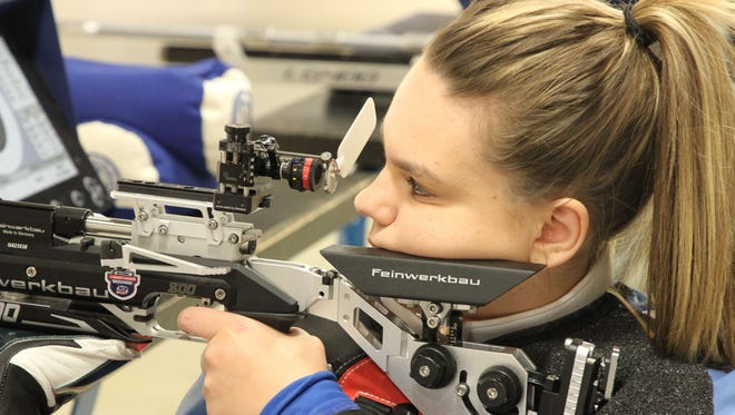 Castalia's Taylor Farmer, born with cerebral palsy, is a champion shooter now aiming to compete on the U.S. Paralympic Team in Tokyo in 2020.