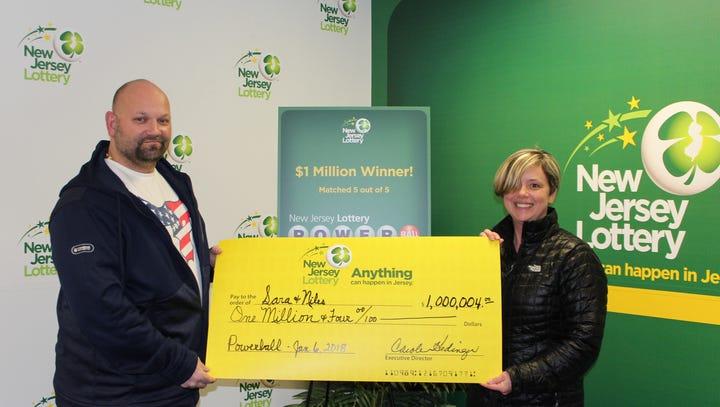 Sara and Niles Malvasia, of Washington, won $1 million