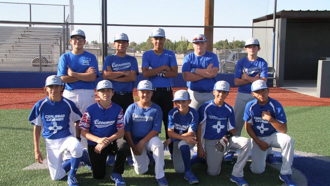 The Shorthorn Junior team poses before Wednesday's practice at Carlsbad High.