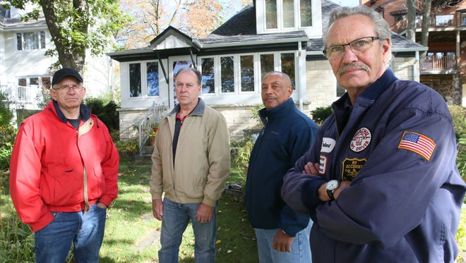 Milwaukee-area Teamsters (left to right) Tom Botic, Pat Wenneshiemer, Kenneth Stribling and Tom Minerath stand outside Minerath's Town of Merton home in October 2015 after being told that Central States Pension Fund wanted to cut their pensions by 50 percent. Wednesday, Stribling testified before a Congressional committee seeking solutions to the financial crisis facing Central States and other multi-employer pension plans.