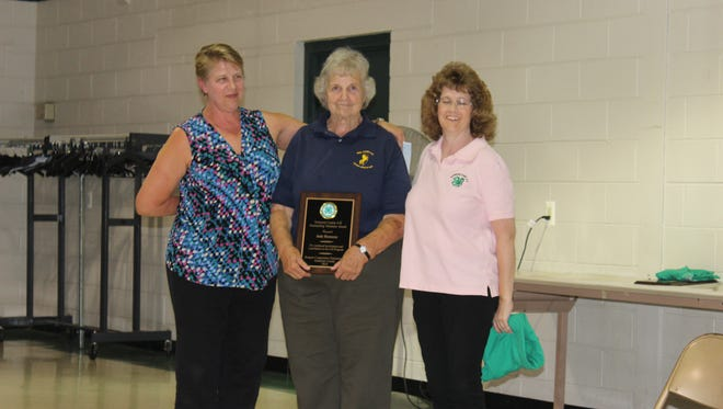 (Left to right) Carol Ward, 4-H Agent, Judy Hennessy and Annette Smutko, 4-H president.