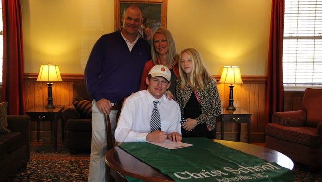 Christ School senior Jonathan Rector has signed to play college golf for Clemson.