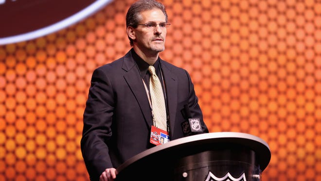 Ron Hextall would very much like all his players to wear skate guards, but the collective bargaining agreement won't allow him to mandate it.