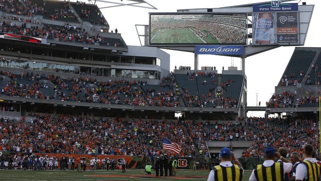 Bids to build a new high-def scoreboard for the Bengals are in and it will cost about $10 million, most of which will be covered by taxpayers.