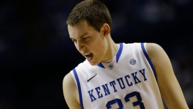 Kentucky forward Kyle Wiltjer (33) walks off the court during the second half of a 2013 SEC tournament game.