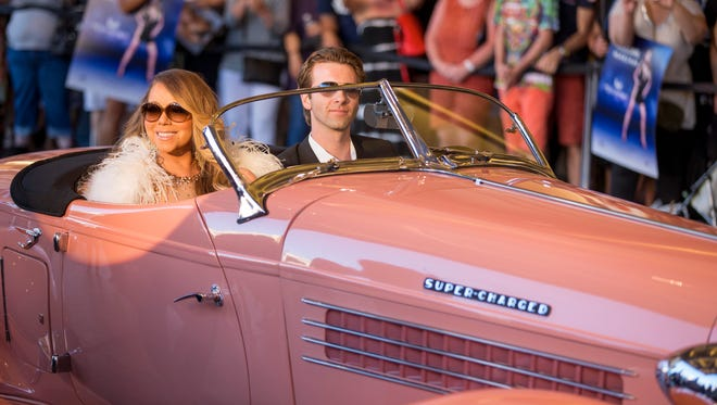 Mariah Carey is seen at her Official Welcome to Caesars Palace on Monday, April 27, 2015, in Las Vegas, NV.