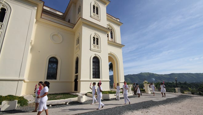 the Catholic Church in El Cobre, Cuba, is shown. Cuba is building its first church in 55 years.