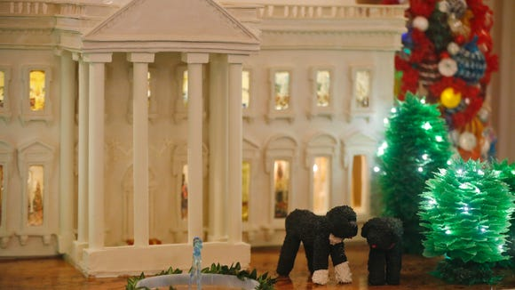 The 300-pound gingerbread White House of 2013.