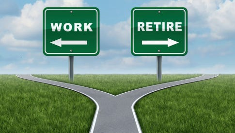 Some people struggle with the transition to retirement.