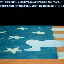 "The Smithsonian's National Museum of American History in Washington displays the flag that inspired ""The Star-Spangled Banner."""