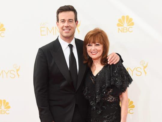TV host Carson Daly (L) and Pattie Daly Caruso attend