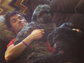 """Pretty Little Liars"" star Ian Harding acted as a willing ""human pillow"" for his dogs, Mochi and Bailey, in this Instagram photo."