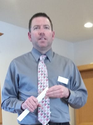 Jeremy Ashauer of the Wisconsin Department of Transportation, gives details of the Highway 42 reconstruction scheduled for 2020 in southern Door County.