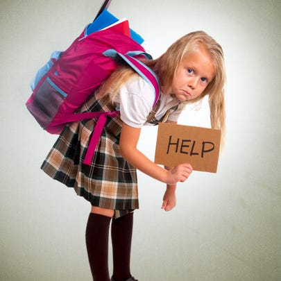 What to do when the kids' backpacks are too heavy