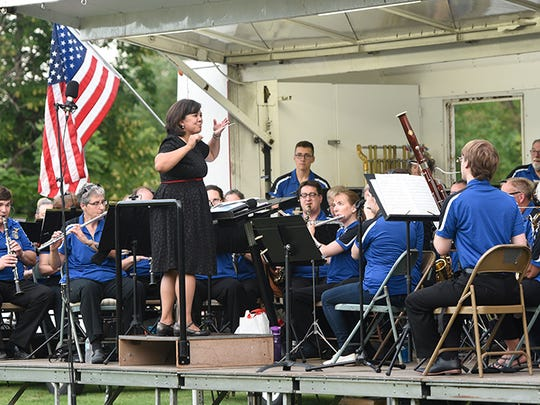 The St. Cloud Municipal Band performs during its annual concert at Hester Park before Fourth of July fireworks in St. Cloud in this file photo.