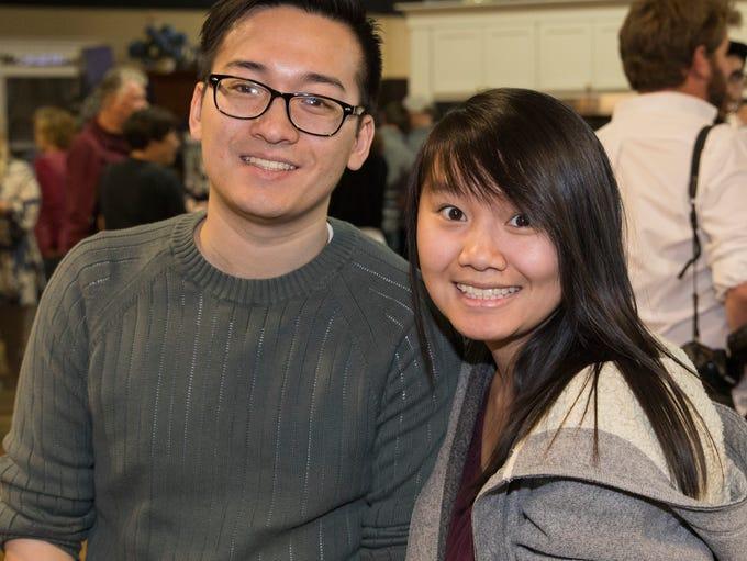 Rickey Yu and Jennifer Tang during the Reno Bites Chef