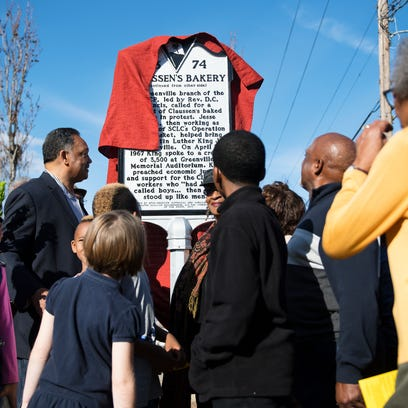New marker showcases role of Greenville bakery in civil rights