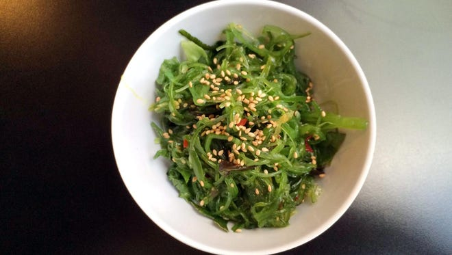 Add a side of seaweed salad to your roll at Harumi Sushi in downtown Phoenix.