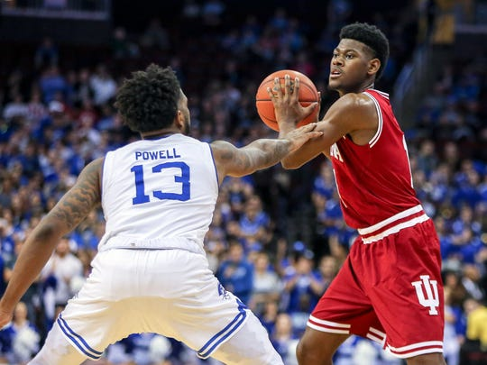Freshman Al Durham (right) has provided IU with some minutes early on this season.