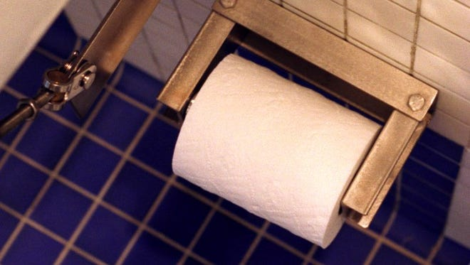 Toilet paper, ready for use