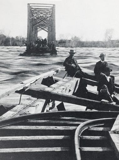 County's largest flood: According to Maricopa County Flood Control District, the largest flood in the county occurred in 1891 when days of rain swelled the Salt River to 18 feet deep and 3 miles wide in spots.  In February of that year, the railroad bridge spanning the river in Tempe collapsed and homes along the river bank were destroyed.