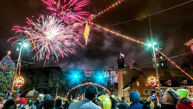 New Year's Eve on the square in York.