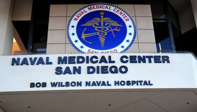 The exterior of the Naval Medical Center San Diego.