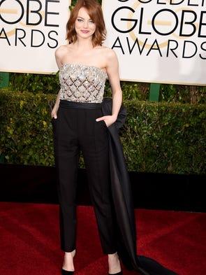 BEVERLY HILLS, CA - JANUARY 11: Actress Emma Stone