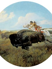"""Charles M. Russell's """"Buffalo Hunt,"""" is part of the C.M. Russell Museum's 2017 exhibitions."""