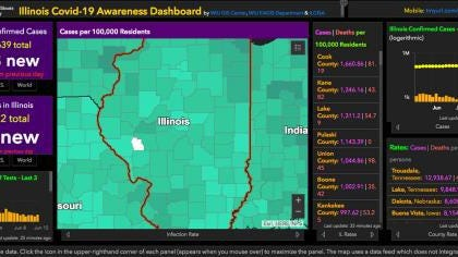 And as of June 16, the map has had over 1 million views and remains the official public dashboard in Illinois, shared by state and federal agencies, as well as numerous news outlets throughout Illinois.