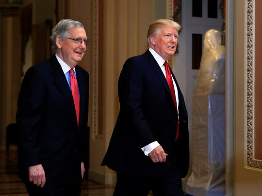 President Donald Trump and Senate Majority Leader Mitch