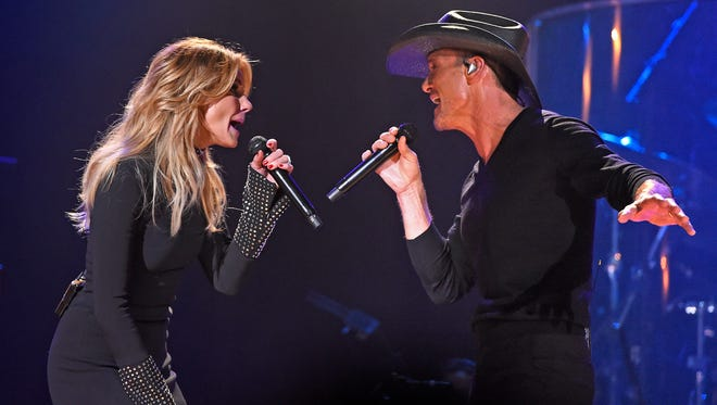 Tim McGraw and Faith Hill are going on tour together for the first time in a decade, country music's most famous married couple revealed to fans Tuesday evening in Nashville. Hill and McGraw announced their Soul2Soul World Tour 2017 at the start of their first ever performance at Music City's historic Ryman Auditorium. Tuesday Oct. 4, 2016, in Nashville, Tenn.
