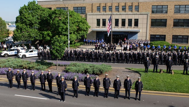 The 2018 Cincinnati Police Department ceremonial inspection. This was the first inspection the force had performed since 1941.