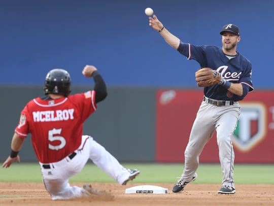 El Paso's Casey McElroy slides into second as Reno