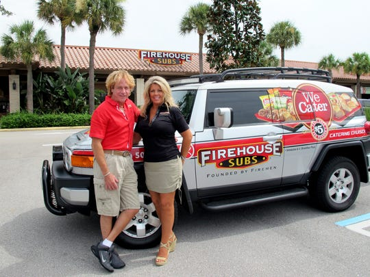 Todd Guller and Katherine Petrone opened Firehouse Subs this year in Riverchase Plaza on the northeast corner of U.S. 41 North and Immokalee Road in North Naples.