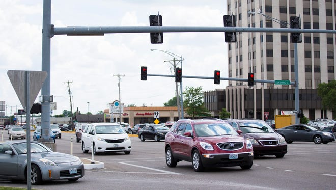 "The intersection of Glenstone Avenue and Sunshine Street — used by 25 million vehicles per year — is shown in a recent News-Leader photo. MoDOT announced that Missouri will crack down on drugged driving on April 19 and 20, 2019, in an effort to head off marijuana-impaired drivers celebrating the annual ""4/20"" cannabis holiday."
