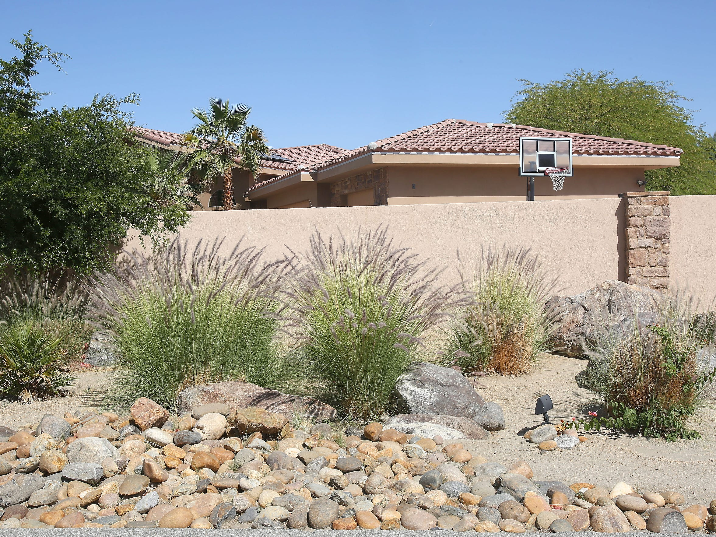 Drought tolerant landscaping at a home in Bermuda Dunes.