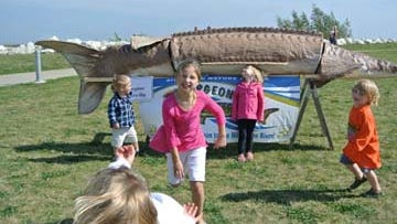 Youngsters enjoy activities at a previous Sturgeon Fest.
