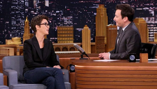 Rachel Maddow is a guest on 'The Tonight Show' Wednesday.