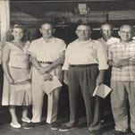 Mary Smith Howell, at far right, in 1959 after winning an award for outstanding performance for her work as a civilian  Air Force employee at Patrick Air Force Base.