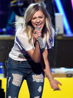 Kelsea Ballerini rehearses for the ACM Awards performance on Thursday, March 30, 2017, at T-Mobile Arena in Las Vegas.