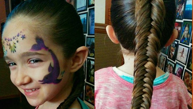 Emma Morgese's hairstyles are done each day by her father.