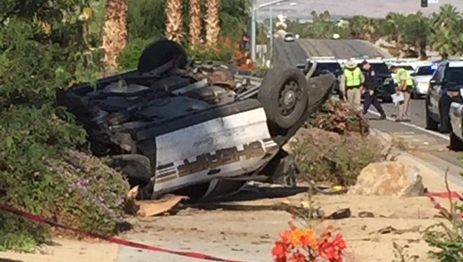 A Tuesday police chase that spanned four Coachella Valley started in Bermuda Dunes when police were investigating the possible shooting of a vehicle, the sheriff's department said Wednesday.