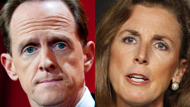 Katie McGinty is challenging incumbent Pat Toomey for the U.S. Senate seat.