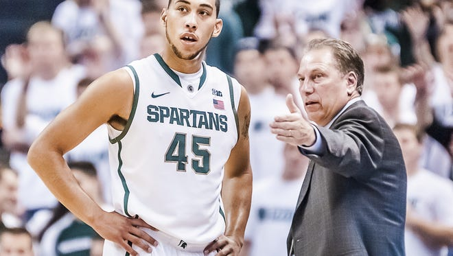After not having a captain last season, MSU coach Tom Izzo named junior Denzel Valentine as one of two for the Spartans this season.