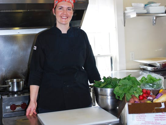 Chef Katie Porter at The Wallace House.