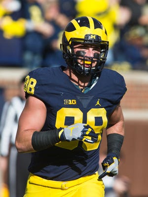 TE Jake Butt, Michigan – Butt might have been a first-round pick if not for the torn ACL he suffered in Michigan's bowl game. With Eric Ebron under contract, the Lions can afford to be patient with the versatile tight end.