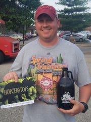 The New Albanian Brewing Company held a homebrewing competition May 17 in which the crowd selected a beer that will be placed on the brewery's menu this fall in celebration of the 25th anniversary of FOSSILS, a homebrewing club in Southern Indiana. Sellersburg resident Michael Downs won with his IPA — Hopceratops.